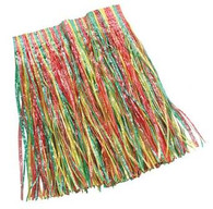 GRASS SKIRT., MULTI COLOURED CHILD SIZE, FANCY DRESS ACCESSORY