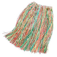 Long Length Grass Skirt 80cm Multi Coloured, XL HAWAIIAN/HULA FANCY DRESS