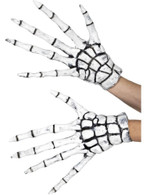 White Grim Reaper/Skeleton Gloves, Halloween Fancy Dress Accessories