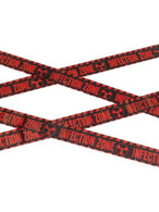 Zombie Infection Zone Caution Tape, Halloween Fancy Dress Accessories