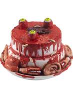 Latex Gory Gourmet Zombie Cake Prop, Halloween Fancy Dress Accessories