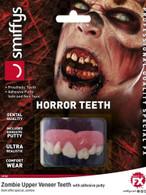 Horror Teeth, Zombie, with Upper Veneer Teeth, Halloween Fancy Dress