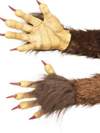 Beast/Krampus Demon Gloves, Halloween Fancy Dress Accessories, One Size