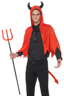 Devil Kit, Horns/Cape/Trident/Tail, Halloween Fancy Dress Accessories
