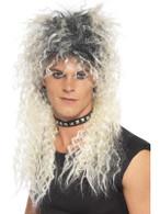 Long Blonde Frizzy Wig, Hard Rocker Wig, 1970's, 1980's