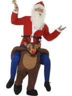 Piggyback Reindeer Rudolf Costume, Christmas Adult Fancy Dress, One Size