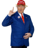 President Trump Costume, Jacket, Hat & Tie,USA American Fancy Dress, XL