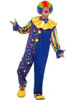 Deluxe Clown Costume, Fancy Dress, Medium