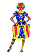 Deluxe Light Up Carousel Clown Costume, Circus Fancy Dress,UK Size 16-18