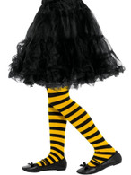 Bee Stripe Tights Yellow & Black,Gils/Children's Tights Age 6-12