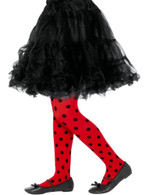 Ladybird Spot Tights Red & Black,Girls/Children's Tights Age 6-12