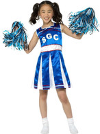 Cheerleader Costume, Girls Fancy Dress, Large Age 10-12