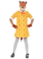 Miss Fox Costume, with Dress, Girls Fancy Dress, Small Age 4-6