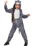 Tabby Cat Costume, Children's Animal Fancy Dress, Large Age 10-12