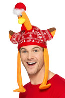 Turkey Hat Red with Christmas Jumper,Christmas Fancy Dress Accessories