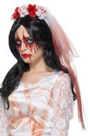Blood Drip Veil White, Halloween Fancy Dress Accessories, One Size