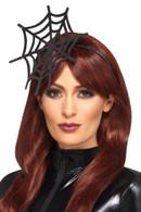 Cobweb Headband Black, Halloween Fancy Dress Accessories, One Size