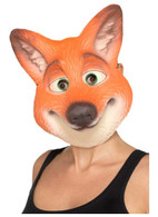 Fox Mask Orange Adult, Party Animals Fancy Dress, One Size