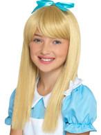 Alice in Wonderland Princess Wig Blonde Kids, Girls Fancy Dress, One Size