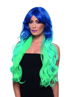 Fashion Mermaid Wig Wavy Extra Long Multi-Coloured Heat Resistant/Styleable