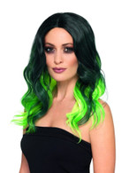 Deluxe Ombre Wig Green Heat Resistant/Styleable,