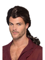 Marauder Pirate Wig Brown, Pirate Fancy Dress, One Size