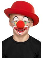Family Clown Kit with 4 Colours 2 Crayons Nose Sponge Brush, Facepaint