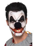 Killer Clown Facepaint Kit with 3 Colours Blood Nose Teeth Sponge & Brush