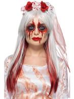 Blood Drip Bride Facepaint Kit,3 Colours Blood Tube Glitter, Brush & Sponge