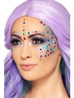 Jewel Face Gems Assorted Colours Sheet of 100, Facepaint/Makeup