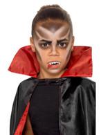 Kids Halloween Vampire Facepaint Kit 3 Colours Fangs Stipple Sponge & Brush