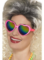 Heart Specs, Glasses, Adult Fancy Dress Costumes, PINK