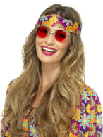 Red Hippie Specs, 1960's Groovy Fancy Dress