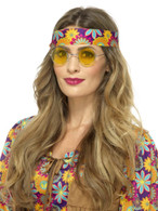 Yellow Hippie Specs, 1960's Groovy Fancy Dress