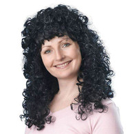 Curly Wig Long. Black Budget.