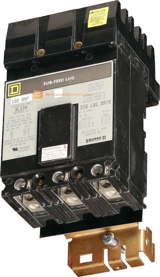 Sl100 I Line Sub Feed 100 Amp Lug Kit By Square D
