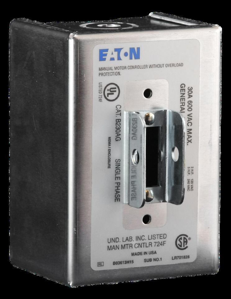 B230AG Eaton Manual Motor Switch 2 Pole 30 Amp