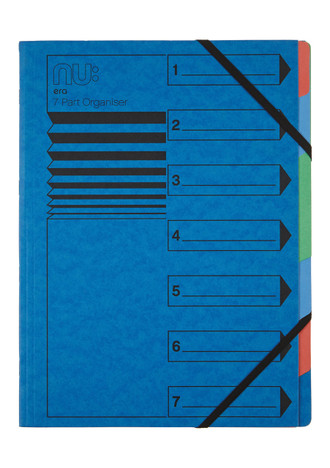 Nu Era Cloud 7 Part Organiser File Blue