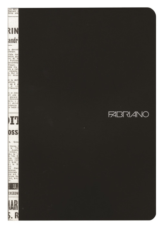 Fabriano Soft Cover Printed Spine Notebook Black
