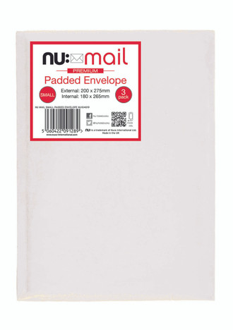 Nu Mail Small Padded Envelopes - Pack of 3