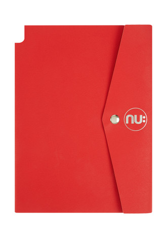 Nu: Saffiano Journal - Red