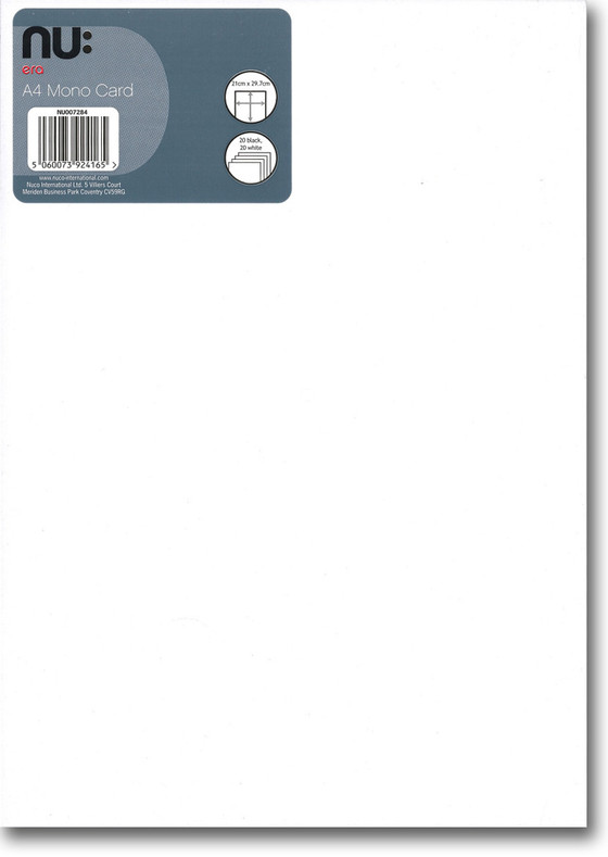Nu Craft A4 Mono Card - Front