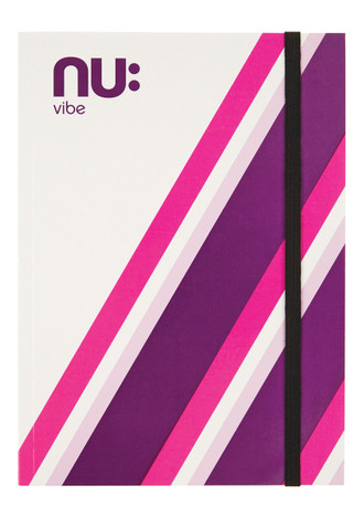 Nu Vibe Prism Card Cover Elastic Journal Pink