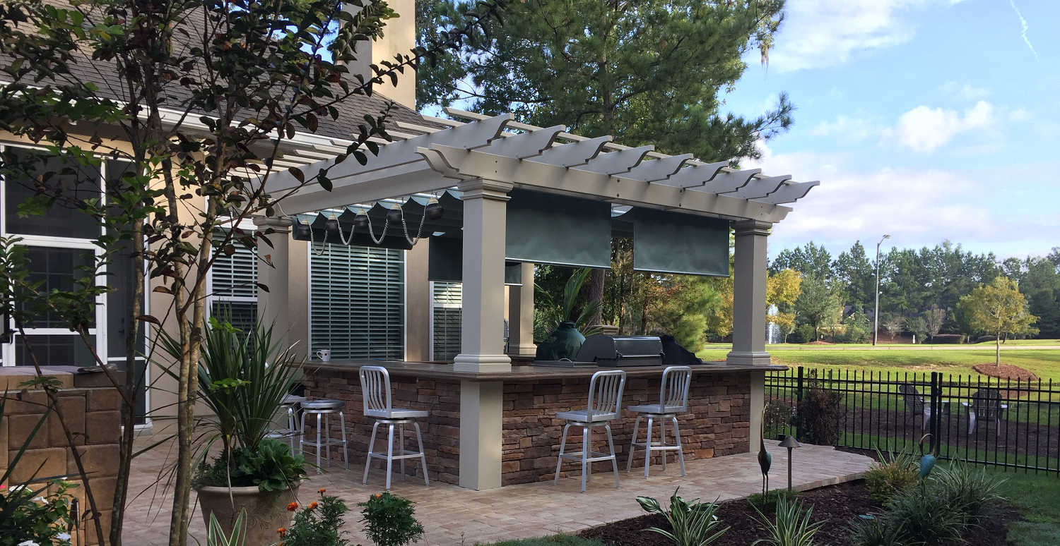 Outdoor Kitchen Pictures And Ideas Pergola Kits Usa Com