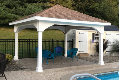 Premium Vinyl Pavilion Traditional Roof Pergolakitsusa Com