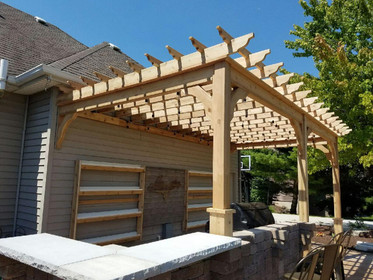 Serenity Cedar Pergola Kit Wall Mounted Pergolakitsusa Com
