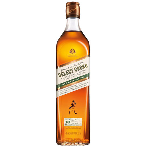 Johnnie Walker Select Casks íëí_íë_íëí___íëí_íë_íëí___íëí_íë_íëí__íëí_í«Œ'íëŒÇí«Œ± Rye Cask Finish is a Scotch Whisky blend that showcases the best of Scottish blending and maturation expertise. With Cardhu single malt at the heart of the blend, Johnnie Walkeríëí_íë_íëí___íëí_íë_íëí___íëí_íë_íëŒÇí«íˆíëí_íë_íëí_í«_s Master Blender Jim Beveridge used whiskies matured for at least ten years in first-fill American Oak casks to create this blend.  He finished the Scotch in ex-rye whiskey casks, creating a complex new whisky with rich layers of flavor starting with creamy vanilla notes and transitioning to a spicier finish.