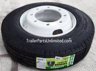 215/75R17.5 16 PL Goodride Tire on White Dual Wheel 8x275mm