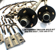 tandem trailer axles with all hardware