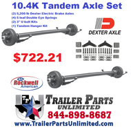 Tandem 5200 lbs Dexter Axles with all hardware needed to mount to trailer